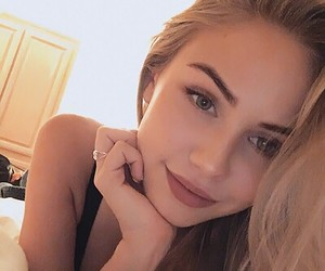 blonde, girl, and smile image
