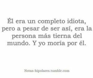 amor, frases, and idiota image