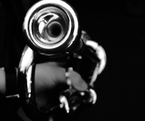 music, photography, and trumpet image