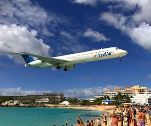 airport, Island, and plane image