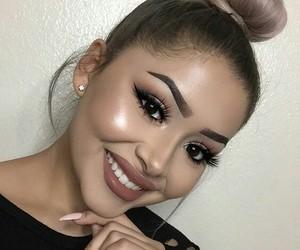 beauty, nails, and bun image