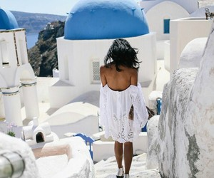 Greece, girl, and summer image