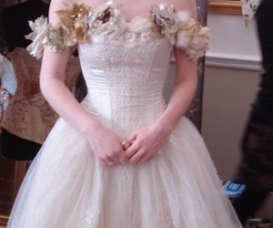 bride, crown, and dress image