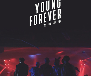 bts, wallpaper, and young forever image