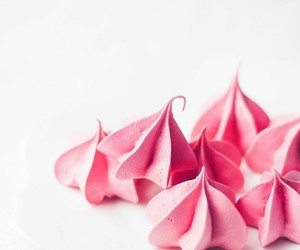 meringue, pink, and sweet image