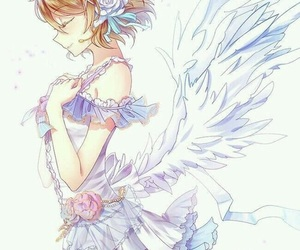 anime girl, anime, and wings image