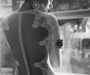 wedding, woman, and dress image