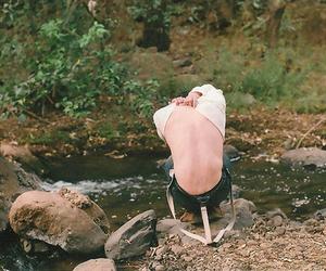 river, boy, and fashion image