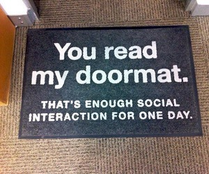 doormat, funny, and lol image