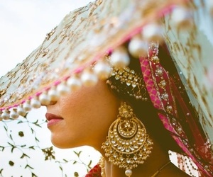 beautiful, bollywood, and earrings image