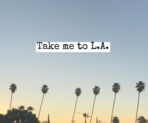 font, los angeles, and palms image