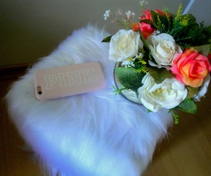 flower, iphone, and pink image
