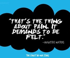 the fault in our stars, pain, and quote image