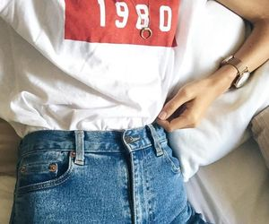 80's, indie, and jeans image