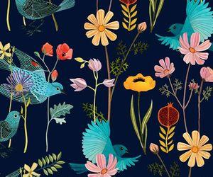 flowers, bird, and animal image