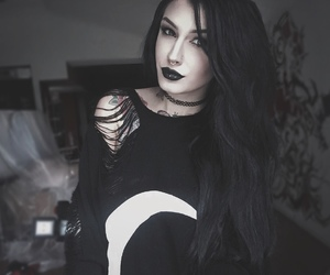 fashion, gothic fashion, and goth image