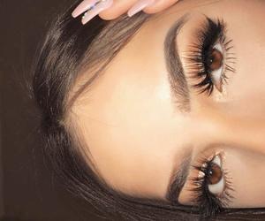 eyebrow, eyelashes, and girl image