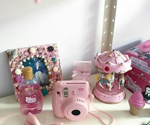 camera, girlie, and hello kitty image