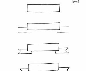 ribbon and stationary image
