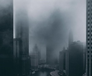 city, dark, and building image