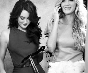 gossip girl, blake lively, and leighton meester image