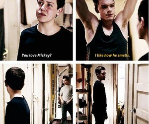 shameless, gallavich, and carl image