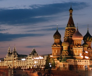 city, russia, and travel image
