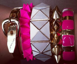 bracelet and pink image