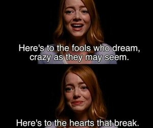 la la land, emma stone, and quote image