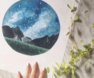 paint, watercolour, and stars image