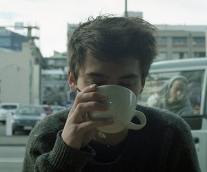 boy, coffee, and aesthetic image