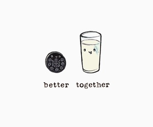 better, milk, and together image