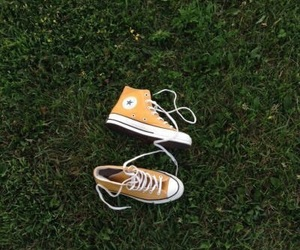 aesthetic, converse, and yellow image