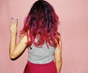 crazy hair, dye, and dyed image