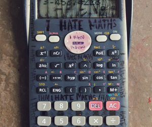 hate, maths, and math image