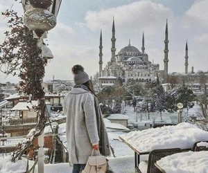 istanbul, snow, and turk image