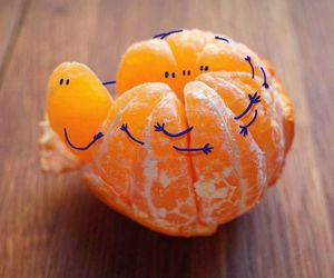 art, fruit, and orange image