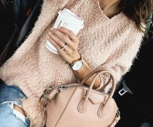 fashion, bag, and coffee image
