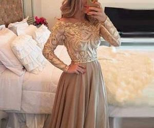 dress, long sleeves, and prom dress image