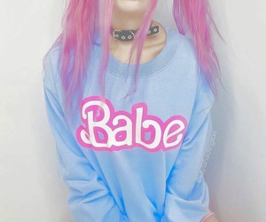 pink, babe, and blue image