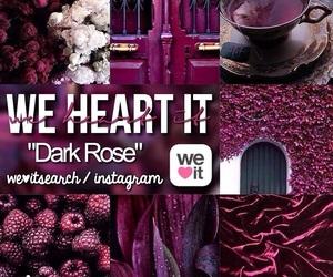 dark, rose, and tumblr image