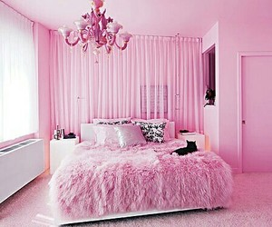 decorations, furry, and pink bedroom image