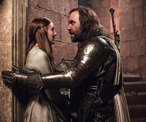 game of thrones, the hound, and sansa stark image