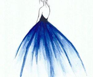 blue, art, and dress image