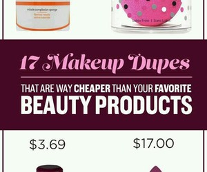 make up, dupes, and makeup image