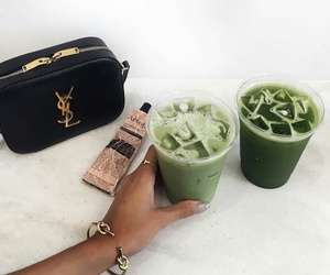 drink, green, and YSL image