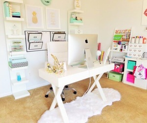 home office, office, and work space image