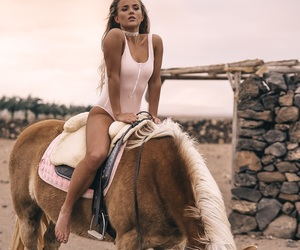 fashion, swimsuit, and iceland horse image