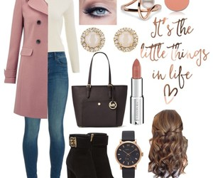 baby pink, Polyvore, and white image