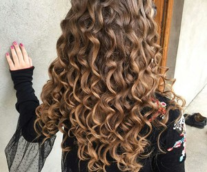 blonde, ombre, and curly image